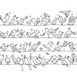 Birds family seamless pattern for your design