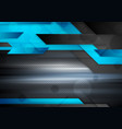 black and blue abstract technology background vector image vector image