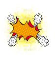 blank comic cloud vector image vector image