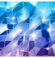 Blue triangles shine background vector image vector image