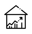 building house and arrow thin line icon vector image vector image