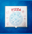 cardboard box with pizza bacon vector image