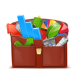 Case with Statistics vector image vector image