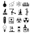 Chemistry science icons set vector image vector image