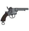 classic american handgun vector image vector image