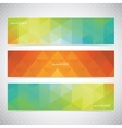 Colorful Horizontal Set Of Banners Mosaic vector image vector image
