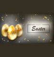 dark easter composition with glitter golden eggs vector image vector image