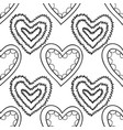 decorative hearts black and white seamless vector image