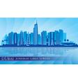 Dubai Jumeirah Lakes Towers skyline silhouette vector image vector image