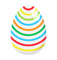 easter egg flat icon easter and holiday vector image vector image