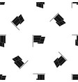 flag of spain pattern seamless black vector image vector image