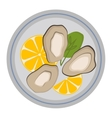 Fresh mussel vector image vector image