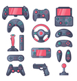 Game Gadget Color Icons Set vector image