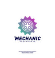 gear logo design concepts mechanical gear logo vector image