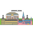 germany bonn city skyline architecture vector image vector image