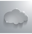 Gray eco glossy glass cloud icon vector image vector image