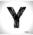 grunge letter y black font sketch style symbol vector image