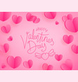 happy valentines day greeting card template for vector image vector image