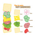 how to make burgers and sandwiches poster vector image