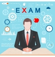 Infographics Exam vector image