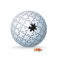 Jigsaw Puzzle Globe Sphere vector image vector image