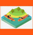 kayak boat vector image