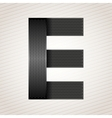 Letter metal ribbon - E vector image vector image
