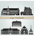 Liege landmarks and monuments vector image vector image