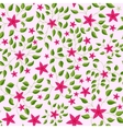 Little flowers with leaves pattern colorful vector image vector image