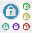 lock icons closed vector image vector image