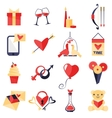 Love symbols set vector image vector image