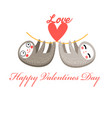 lovers funny sloth vector image vector image