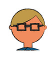 man geek cartoon vector image vector image
