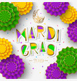 mardi gras or shrove tuesday lettering design vector image vector image