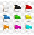 multicolored flags icon set vector image vector image