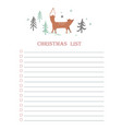new year and christmas holidays to do list with vector image