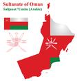 Omani Flag vector image vector image