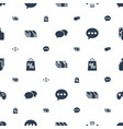 online icons pattern seamless white background vector image vector image