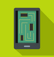 phone innards icon flat style vector image vector image