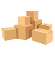 pile of stacked sealed goods cardboard boxes flat vector image vector image
