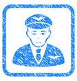 pilot framed stamp vector image