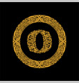 premium elegant capital letter o in a round frame vector image vector image