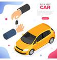 purchase car sharing or rental car vector image vector image