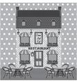 Restaurant facade vector image vector image