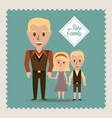 retro family father their children vector image vector image
