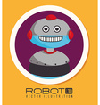 Robot design over yellow background vector image