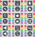 Rocket Smartphone Stopwatch Mailbox Suitcase Full vector image vector image