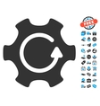 Rotate Gear Icon With Free Bonus vector image vector image