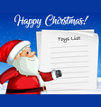 santa claus on blank paper template vector image