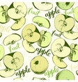 Seamless apples backgrond vector image